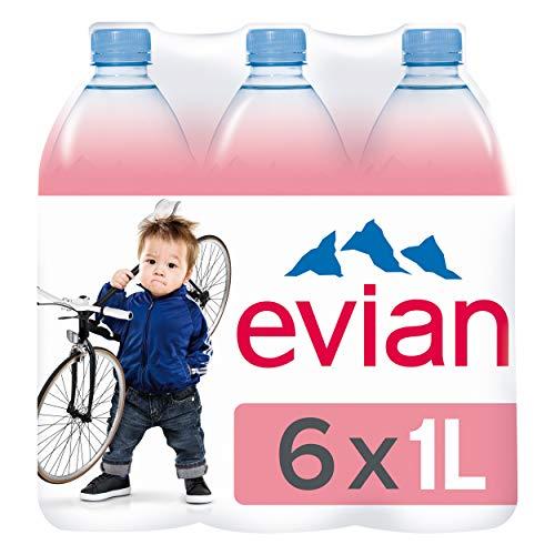Evian Pet, 6er Pack, Einweg (6 x 1 l)