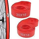 ONGHSD (Nylon,Not PVC) 2 Pack Bike Tire Liner, Anti-Scratched Bike Rim Strip Red Bicycle Rim Tape 700c 29 27.5 26 20 14 Inch for Road Bike MTB Mountain Bike Tube Protector Liner (29 inch)