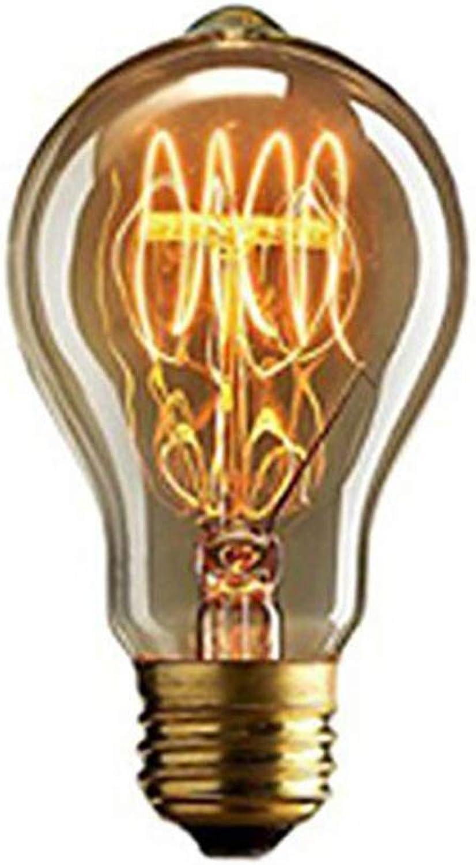 Hplights Edison Vintage Glühbirne E27 Birne 40W A19 Dekorative Retro Glühlampe, Warmwei Squirrel Cage Filament Kohlefadenlampe oder Deckenleuchte Ideal für Nostalgie und Retro Beleuchtung