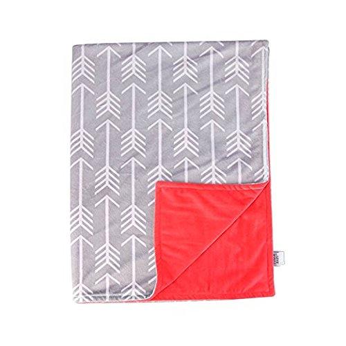 Towin Baby Arrow Minky Double Layer Receiving Blanket, Coral 30