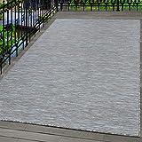 Carpetsale24 Alfombra de Sisal Alfombra de Tejido Plano para Interior y Exterior Gris Topo, tamaño:140x200 cm