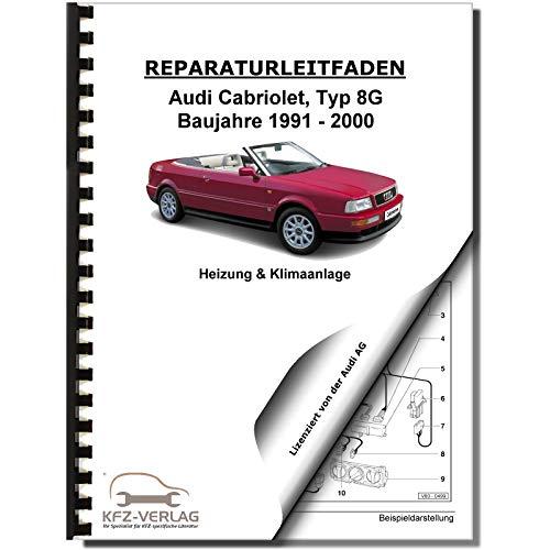Audi Cabriolet (91-00) Heizung Belüftung Klimaanlage Reparaturanleitung