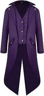 Men's Steampunk Gothic Jacket Vintage Tailcoat Tuxedo Uniform Halloween Party Costume Coat