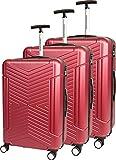 Compagnie du bagage SET DE 3 VALISES Set di valigie 48 Centimeters Rosso (Bordeaux)