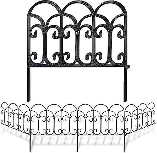 Amagabeli 46cm X 46cm X 5 Stück Gartenzaun Metall Teichzaun Set mit Zaunelementen Gartenzaun Bei Dekorative Freigehege Teich Zaun Faltdraht Zäune Klein Metall