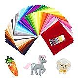 SOLEDI No Tejido Tela de Fieltro 60 Colores Telas Patchwork Fieltro para Manualidades Cojines de Fieltro de Tela para Patchwork Costura(30 * 30cm)