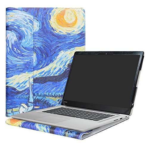 Alapmk Diseñado Especialmente La Funda Protectora de Cuero de PU Para 14' Lenovo Ideapad 320s 14 320s-14ikb/Ideapad 520s 14 520s-14IKB Series Ordenador portátil,Starry Night