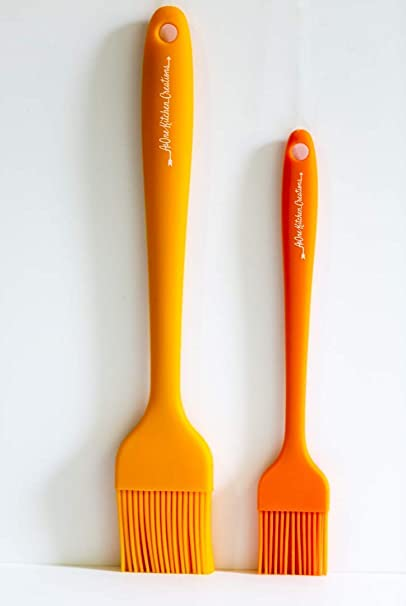 Amazon Com Asone Kitchen Creations 2 Piece Silicone Basting Brush Set Pastry Basting Bbq Grill Brushes Solid Silicone Barbecue Oil Heat Resistant Orange Garden Outdoor