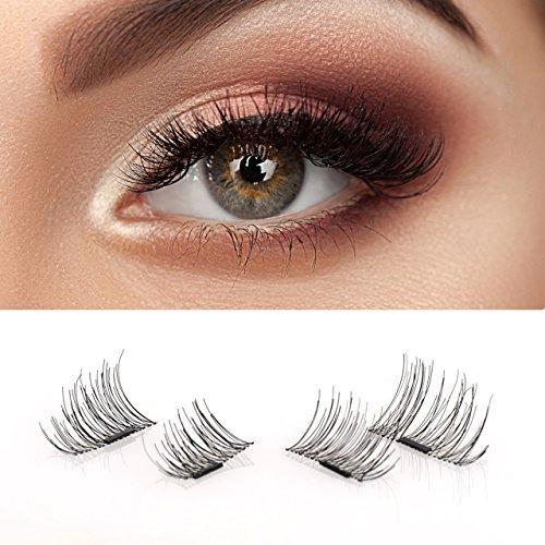 3fe8a348b1a Amazon.com: False Magnetic Eyelashes - No Glue, Mess-Free Reusable Lashes - Beautiful  Natural Enhanced Eyes, Volumized Lashes (1 Pair, 4 Pcs) (1 set): ...