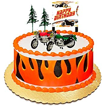 Awesome Amazon Com Motor Bike Motorcycle Cake Decoration Cake Topper With Funny Birthday Cards Online Alyptdamsfinfo