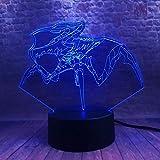 Fußball Lampe 3D Lampe Nachtlicht 3D Led Visual Usb Desk 7 Farben Ändern Kind Kind...