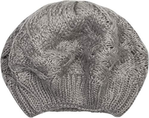 styleBREAKER damski beret z dzianiny kablowej wzór, zima, beret, francuska czapka 04024166