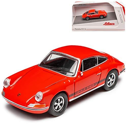 Porsche 911 S Urmodell Coupe Orange Rot 1963-1973 H0 1/87 Schuco Modell Auto