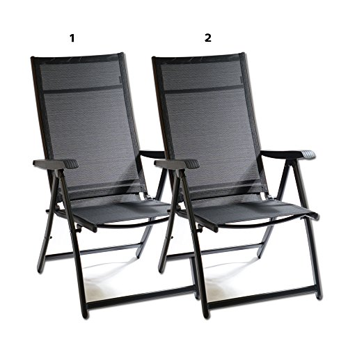 Heavy Duty Durable Adjustable Reclining Folding Chair Outdoor Indoor Garden Pool (2)