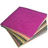 INTVN 40 Farben Filz Blätter Polyester,Felt Fabric,Farben