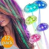 Led-leuchten Haar Braid Flashing LED leuchten Spielzeug für Kind Erwachsene Multicolor Fiber Optic...