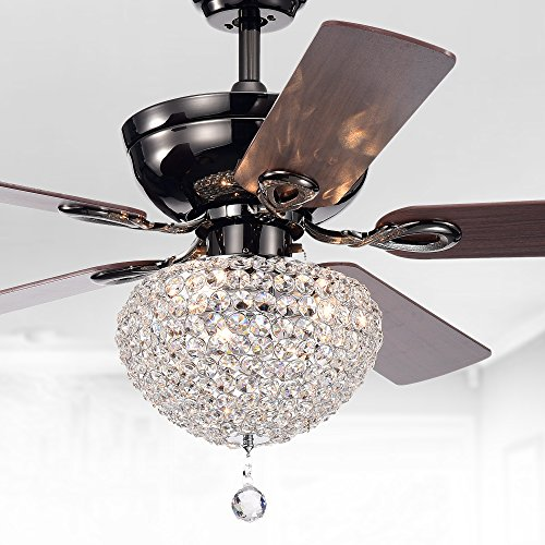 Warehouse of Tiffany CFL-8176CH Taliko Ceiling Fan 52-inch...