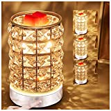 HEKALU Crystal Touch Electric Wax Melts Warmer with Dimmable,Fragrance Candle Melter Warmer for Warming Scented Candle,Wax Melts - Spa,Aromatherapy (Transparent Crystal)