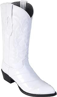 Genuine EEL Skin White J-Toe Los Altos Men's Western Cowboy Boot 990828