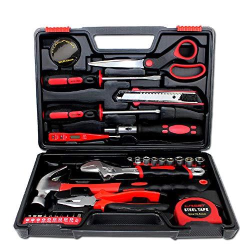Meijunter Multi Haushalts-Werkzeugkoffer,DIY Reparatur Kits Set,31-teilig, gefüllt,...