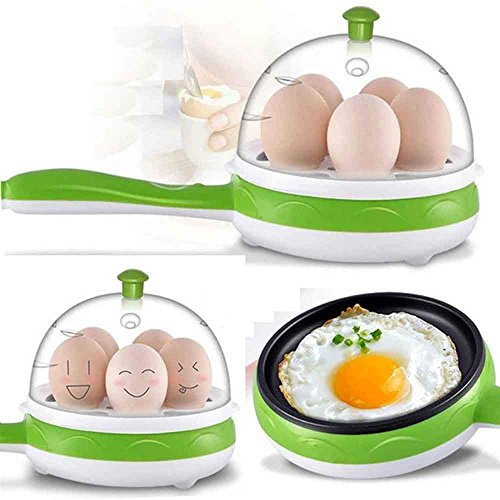 Gnanex Egg Poacher Boiler Multi Cooker and Omelette Maker for 7 Egg with Non-Stick Electric Frying Pan