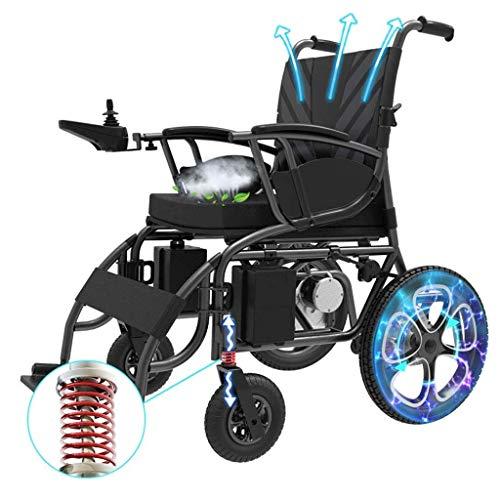 H&1 Silla de Ruedas eléctrica Scooter eléctrico multifunción portátil Plegable con el Rango de conducción más Largo, Solo 37 kg