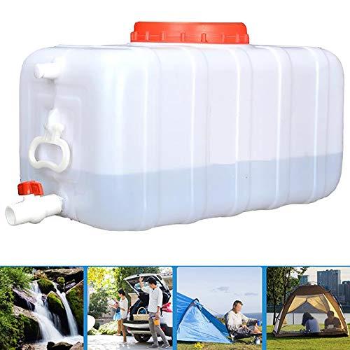 YJSJ LKW Wassertank Mit Wasserhahn Lebensmittelqualität Outdoor Camping Wasserspeicherbehälter Tragbarer Rechteckiger Eimer Säure Alkalibeständiges Öl/Wein/Benzin/Chemische Eimer A++(Size:70L)
