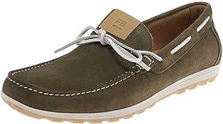 FB Fashion Boots ELBA Reiki Chaussures bateau en cuir pour homme Vert