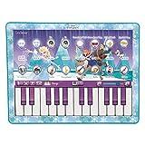 Lexibook-KBPAD100FZ Disney La Reine des Neiges Elsa, Clavier Musical en Forme de Tablette, Jouet pour Enfant, Piano 24 Touches, 8 chansons, Bleu/Violet, KBPAD100FZ