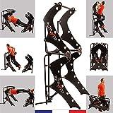 INFINYFIT 130 Noir - La Seule Chaise Romaine Pliable - Appareil de Musculation Complet - Mieux qu'une Cage de Musculation - Idéal pour la Musculation à la Maison