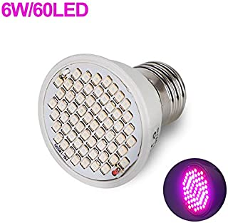 Indoor Plant Light,Led Grow Light E27 Full Spectrum Phyto Growth Bulb Hydroponic Growing Lights Lamps Grow Light Strip for phytolamps Plants Flower,E27-60 only Bulb,Full Spectrum Grow Light
