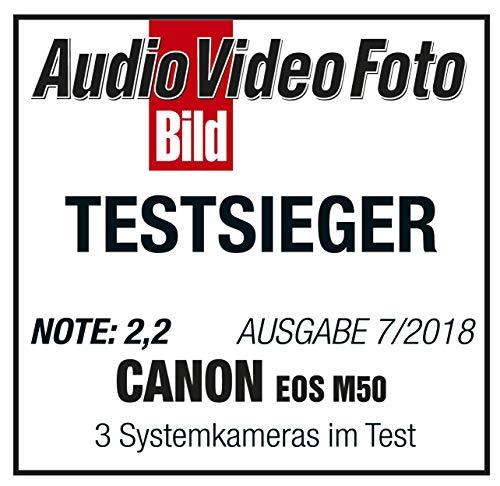 Canon EOS M50 Systemkamera spiegellos - mit Objektiv EF-M 15-45mm IS STM (24,1 MP, dreh- und schwenkbares 7,5 cm (3 Zoll) Touchscreen LC-Display, Digic 8, 4K Video, OLED EVF, WLAN, Bluetooth), schwarz