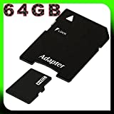 tomaxx 64GB / 64 GB Class 10 micro SDXC Speicherkarte für Asus Padfone Infinity, Samsung Galaxy Young, Samsung Galaxy Fame, Nokia Lumia 520, Nokia Lumia 720 inkl. SD Card Adapter