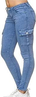 Hellomiko Womens High Waist Jeans - Enge, Dehnbare Jeans mit schmaler Passform und Seitentaschen