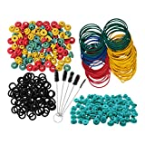 SUPVOX 405pcs Tattoo Rubber Bands and Grommets Nipples O Rings Cleaning Brush Set Tattoo Gun Machine Parts Supplies (Green)