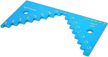 Medidor de profundidad de sierra de mesa, medidor de profundidad de mesa de enrutador de aleación de aluminio, medidor de altura de sierra de mesa de aplicación amplia y duradera, para