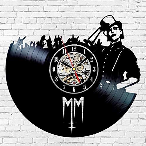 SKYTY Reloj de pared de vinilo Cantante-Retro vinilo Record 3D Reloj de pared banda amantes decoración del hogar 3_no luz led 12 pulgadas