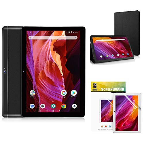 Dragon Touch K10 Tablet, 10 inch Android Tablet with 16 GB Quad Core Processor, 1280x800 IPS HD Display, Micro HDMI, GPS, FM, 5G WiFi with K10 Leather Case and Screen Protector