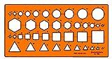 STANDARDGRAPH Gabarit multi-symboles/sections transversales Orange Transparent
