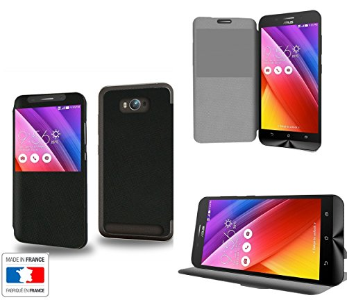 Noir Royal Collection Exception Custodia Pelle Ultra Slim per Asus Zenfone Max ZC550KL smartphone con STAND - Flip Case Funda Cover protettiva Asus Zenfone Max ZC550KL PU Pelle - CASE Industry accessori