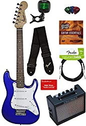 Squier Fender Strat Mini Electric Guitar, kids electric guitar, electronic toys for kids, electronic gifts, toddler electronics, learning toys for toddlers, childrens electronic toys, musical toys, music toys for kids, best electronics for kids, cool toys for kids, electronic educational toys, electronic games for kids, developmental toys, interactive toys, early learning toys, Tech Toys for kids