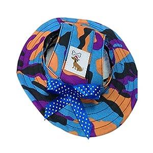 Hawkimin Combinaison de Chien Pet Visière Hat Chapeau Chapeau Loisirs Coupe-Vent Voyage Protection Solaire pour Petit Chien