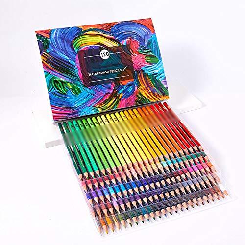 Lapices Colores Yuan Ou Multicolor 180 colores Lápices de dibujo de acuarela profesional Artista Pintura Bosquejo Lápiz de color de madera Suministros de arte escolar 120 Acuarelas