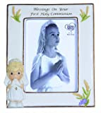 Precious Moments, Blessings On Your First Holy Communion, Bisque Porcelain Photo Frame, Girl, 123410