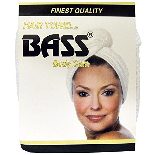 Super absorbante serviette de cheveux, blanc, 1 Piece - Basse Brosses