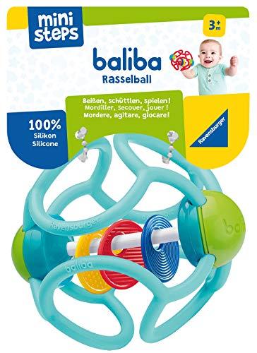 Ravensburger ministeps 4152 baliba Rasselball - Flexibler Greifling, Beißring und Babyrassel - Baby Spielzeug ab 3 Monate - türkis