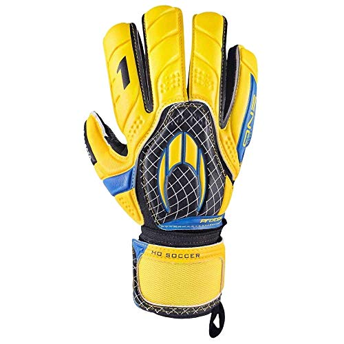 HO Soccer Torwarthandschuhe One Flat Protek gelb - Farbe - gelb, Gr. - 7