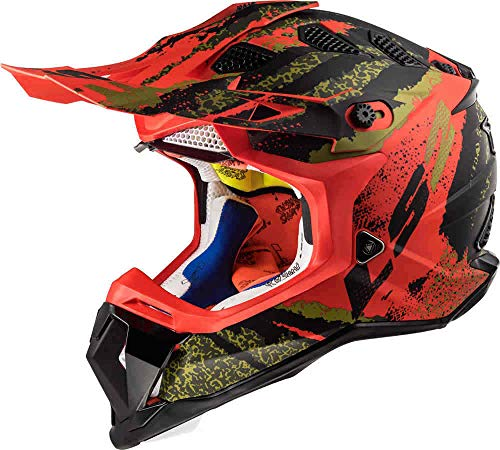 LS2 MX470 Casco de Motocross Subverter Claw Quad Dirt Bike Off Road Safety Gear Enduro MX Casco - Rojo