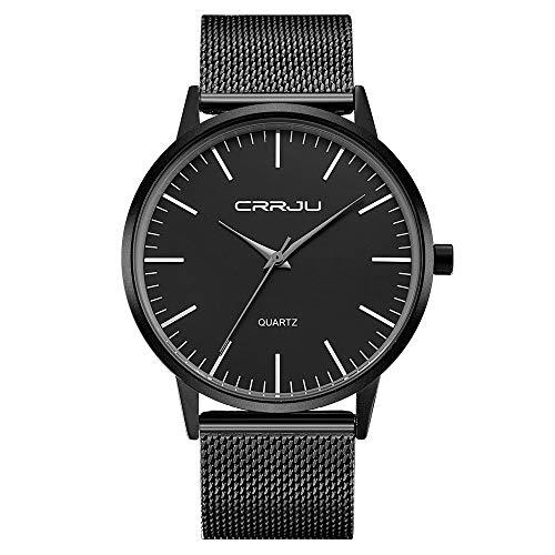 Infinite U-Watch Casual Classic in Acciaio Inossidabile con Cinturino in Maglia Milanese Orologio da Polso Analogico da Uomo al Quarzo da Uomo Impermeabile