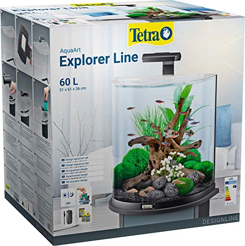 Tetra Aquaart Explorer Line Acquario, Antracite